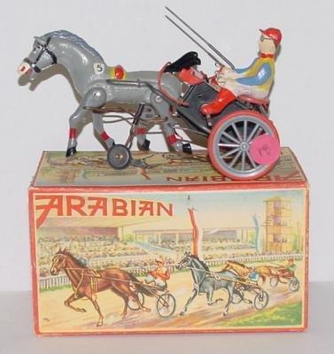 18: GERMAN WIND UP ARABIAN SULKY