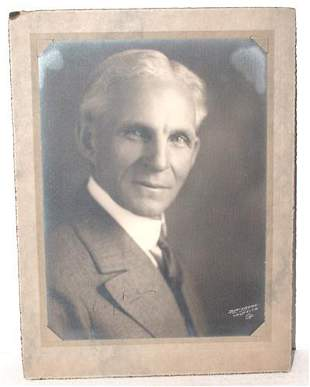 HENRY FORD SIGNED 8 X 10 PHOTO