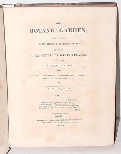 1012: THE BOTANIC GARDEN VOL 2, B. MAUND
