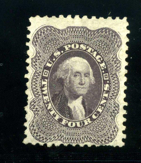 9: 24c 1857 Reprint, Scott 45