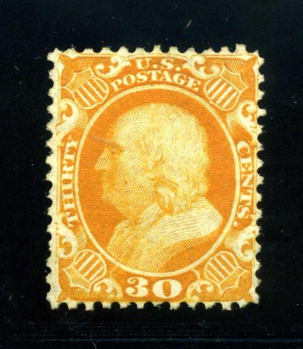 10: 30c 1857 Reprint, Scott 46