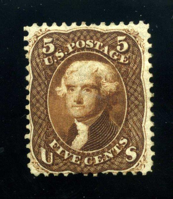14: 5c 1861 First Design, OG, Scott 57 (67-E9e)