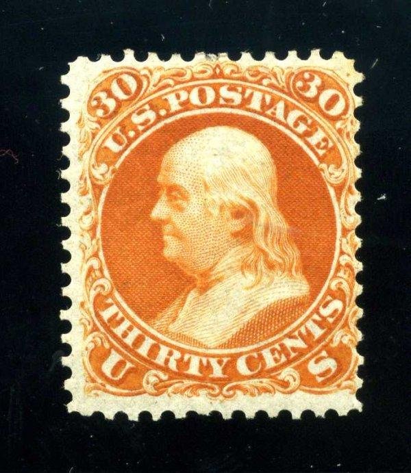 15: 30c 1861 First Design, OG, Scott 61 (71bTC)