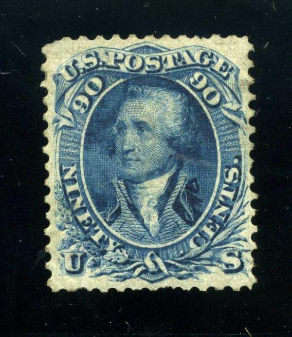 16: 90c 1861 First Design, OG, Scott 62 (72-E7h)