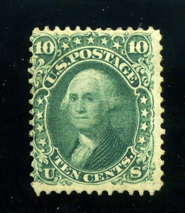 17: 10c 1861 First Design, RG, Scott 62B