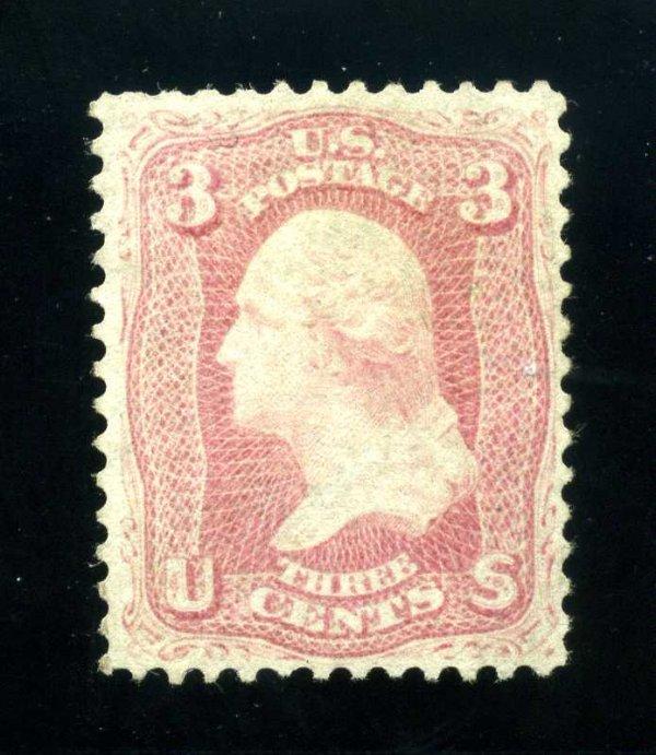 18: 3c 1861 Pink, NG, Scott 64
