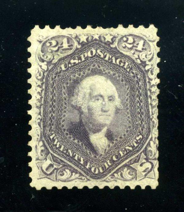 19: 24c 1861 Violet on Thin Paper used, Scott 70c