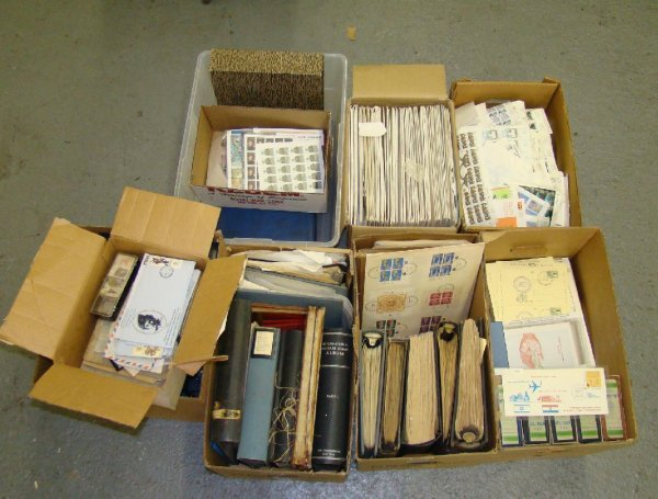 1001: Huge Estate Stamp Lot. Israel etc.