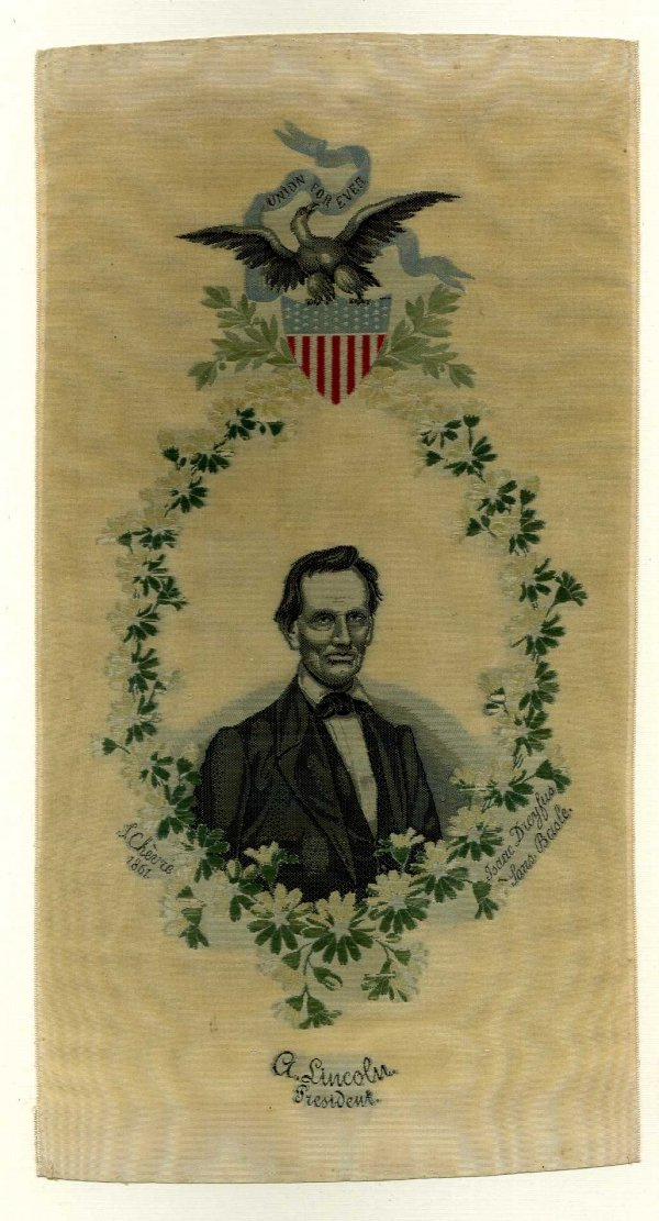 1004: LINCOLN 1861 PORTRAIT INAUGURAL RIBBON