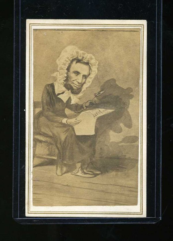 1008: PRESIDENT LINCOLN CARTOON CDV
