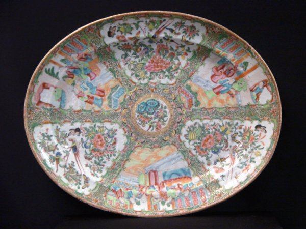 4: ROSE MEDALLION CHINA 18 INCH CHARGER