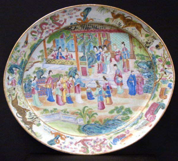 5: ROSE MEDALLION CHINA 20 INCH CHARGER