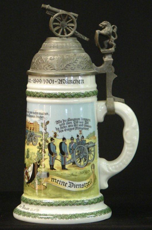 17: ANTIQUE REGIMENTAL STEIN MUNCHEN 1899
