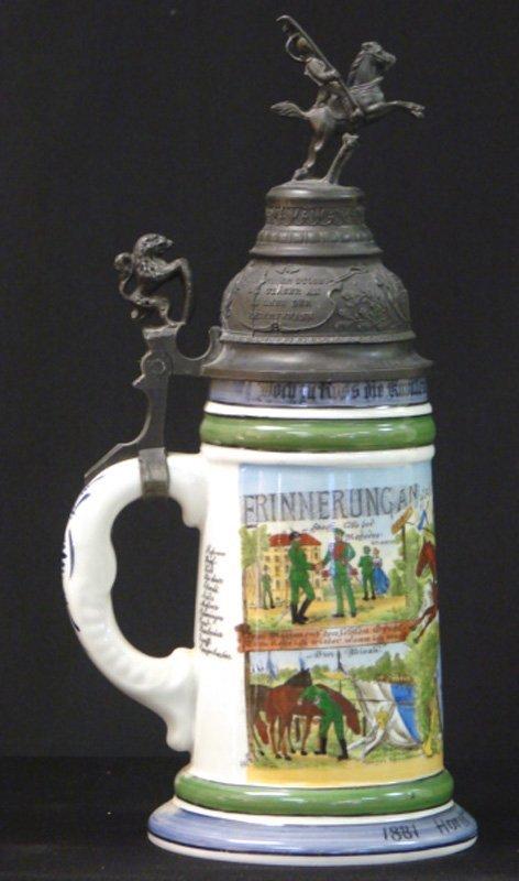 21: ANTIQUE REGIMENTAL STEIN HORST BACHMAYER 1883
