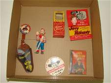 1530: BOX LOT OF TV SHOW PREMIUMS