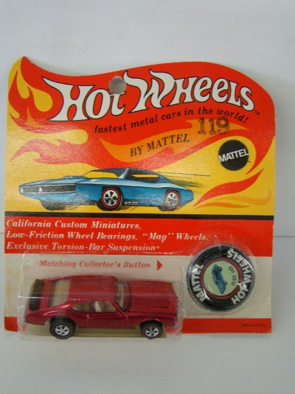 1817: HOTWHEELS. 1969 BLISTER PACK. OLDS 442.