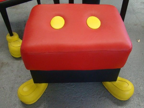 1710G: DISNEY MICKEY MOUSE CHAIRS & OTTOMAN          - 2