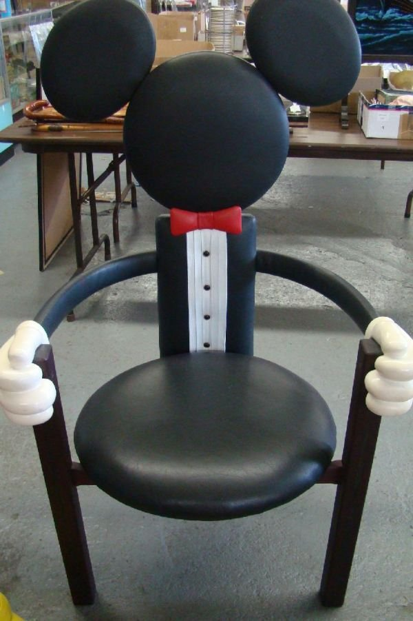 1710G: DISNEY MICKEY MOUSE CHAIRS & OTTOMAN          - 3