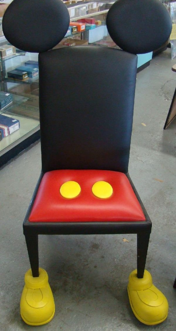1710G: DISNEY MICKEY MOUSE CHAIRS & OTTOMAN          - 4