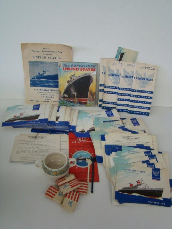 2007: OCEAN LINER COLLECTIBLES LOT - UNITED STATES
