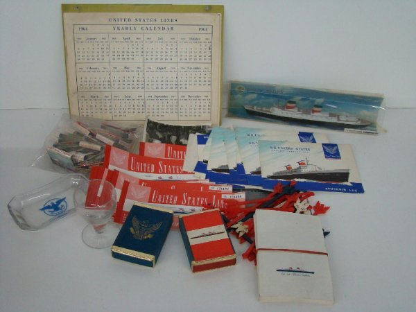 2011: OCEAN LINER COLLECTIBLES LOT - UNITED STATES