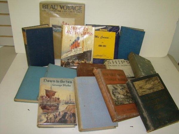 2018: MISC. VINTAGE BOOK LOT. SHIP RELATED