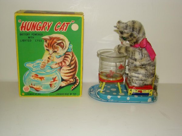 1: BOXED LINEMAR BATTERY OPERATED HUNGRY CAT