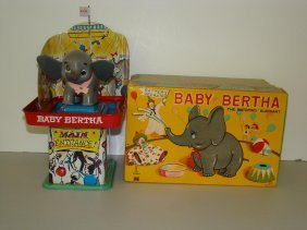 6: BOXED MEGO BATTERY OP BABY BERTHA ELEPHANT