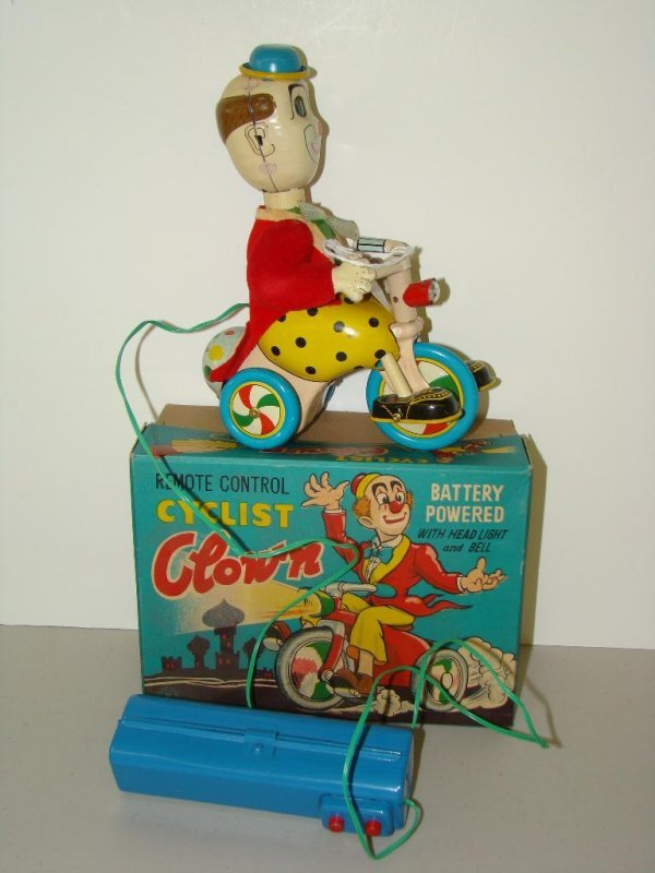 19: BOXED BATTERY OPERATED R/C CYCLIST CLOWN