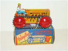 269: BOXED MARX TIN CLIMBING TRACTOR
