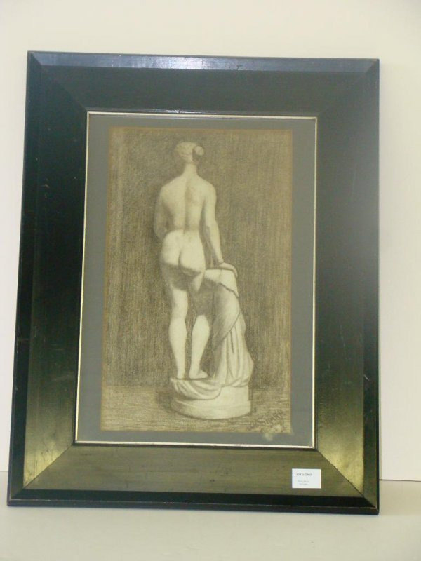 2005: J.H. SHARP 1896. NUDE. CHARCOAL ON PAPER