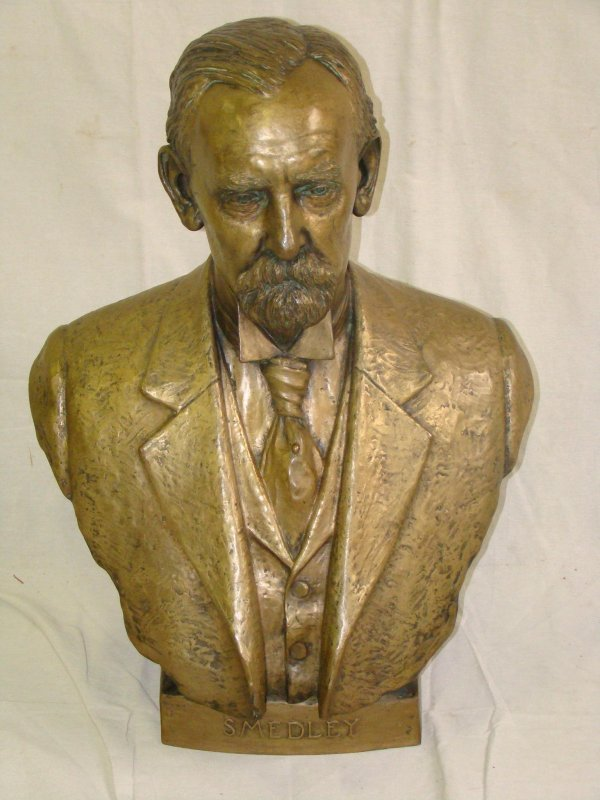2163: RARE. BRYANT PERCY BAKER. BRONZE BUST