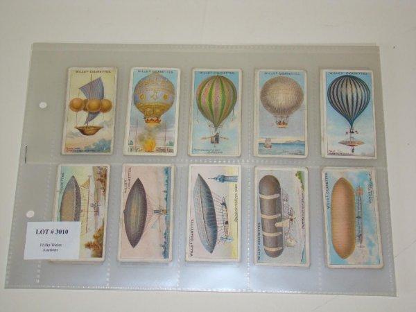 3010: AVIATION CARD SET. WILLS CIGARETTES.