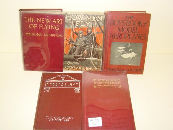 3018: AVIATION. LOT OF FIVE VOLUMES.