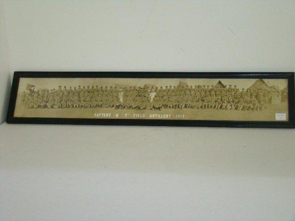 4001: 1917 BATTERY B 7th FIELD ARTILLERY PAN PHOTO