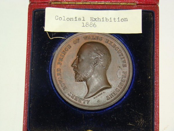 4002: 1886 COLONIAL EXHIBITION MEDAL