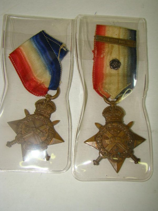 4023: LOT OF TWO BRITISH WWI MEDALS
