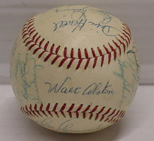 3: CIRCA 1955 SIGNED DODGERS BASEBALL