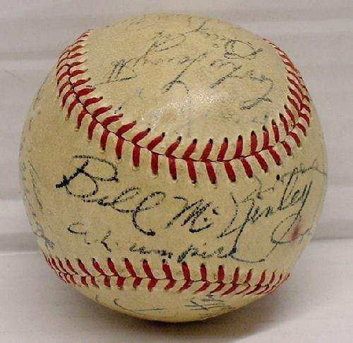 12: 1952 WORLD SERIES BALL - SIGNED