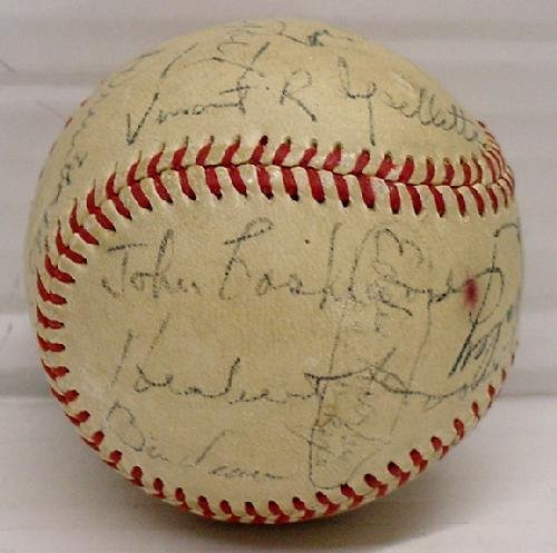 12: 1952 WORLD SERIES BALL - SIGNED - 2