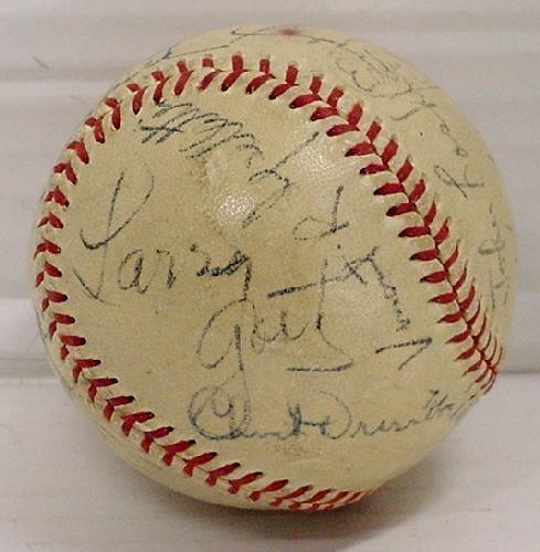 12: 1952 WORLD SERIES BALL - SIGNED - 4