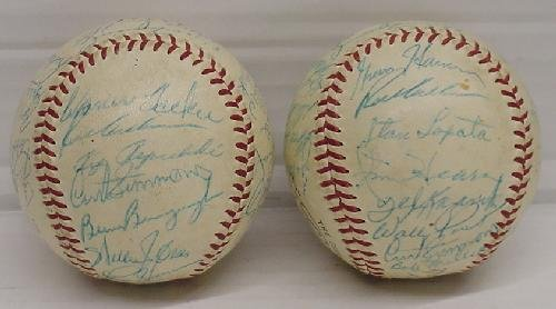 14: PAIR OF MID 1950'S PHILLIES SIGNED TEAM BALLS - 4