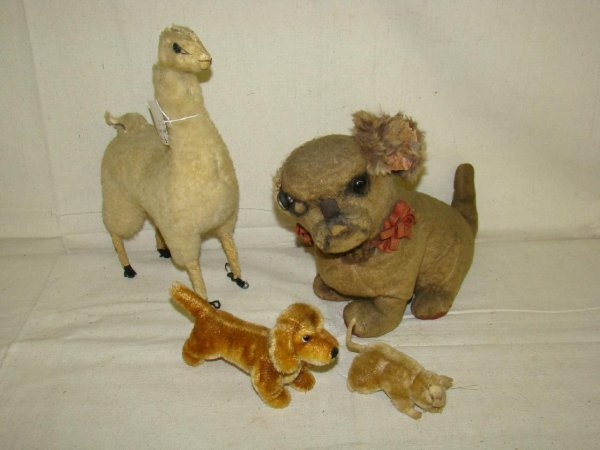 10: LOT OF 4 OLDER STUFFED ANIMALS