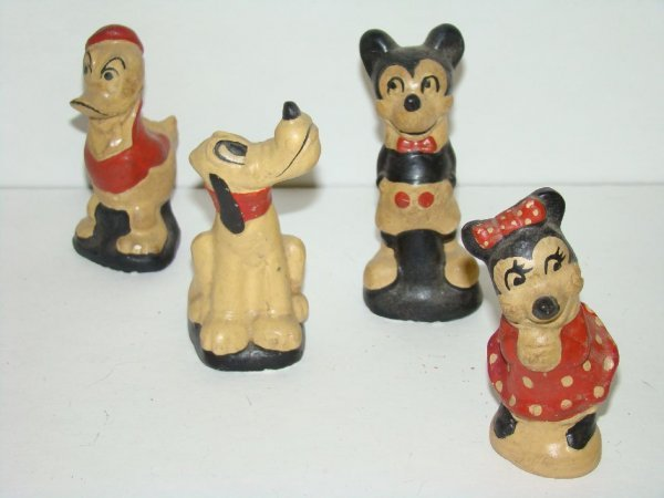 1017: LOT OF FOUR CHALKWARE DISNEY FIGURES