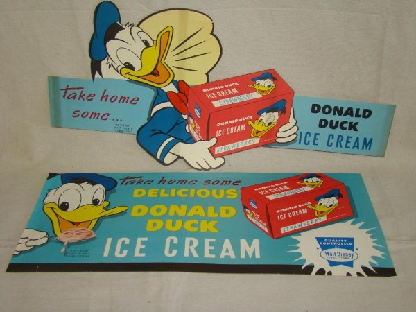 2002: 2 Donald Duck I950s Ice Cream Signs