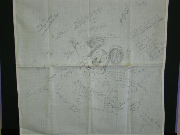 2009: Mickey Mouse Drawing Signed Disney Animators