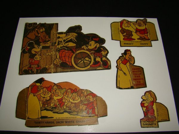 2011: 5 Disney 1930s Cereal Box Cut-Outs