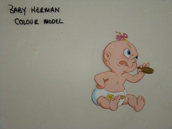 2018: Baby Herman Color Model Cel