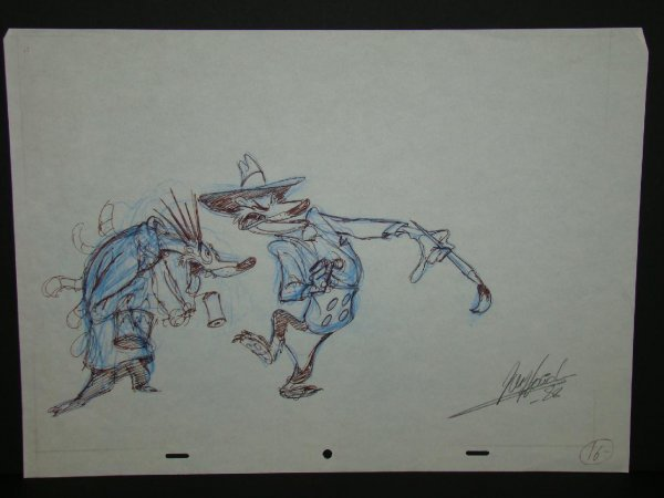 2022: Roger Rabbit Animation Drawing (2) Weasels