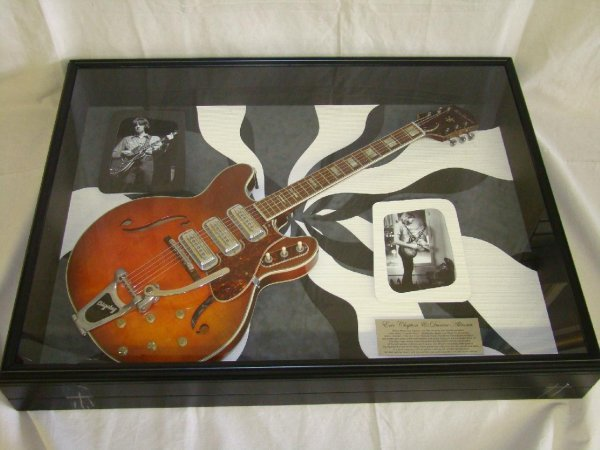 2213: Guitar signed by Duane Allman & Eric Clapton